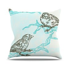 Birds in Trees by Sam Posnick Throw Pillow