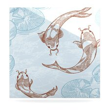 Koi by Sam Posnick Painting Print Plaque