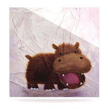 The Happy Hippo by Rachel Kokko Painting Print Plaque
