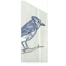 Jay by Sam Posnick Graphic Art Plaque in Blue