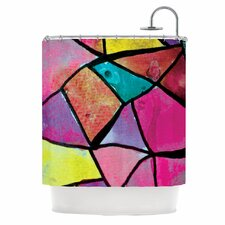 Stain Glass 3 Polyester Shower Curtain