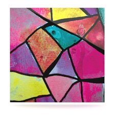 Stain Glass 3 by Theresa Giolzetti Painting Print Plaque
