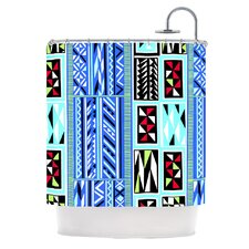 American Blanket Pattern Polyester Shower Curtain
