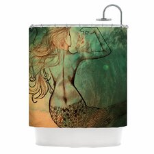 Poor Mermaid Polyester Shower Curtain