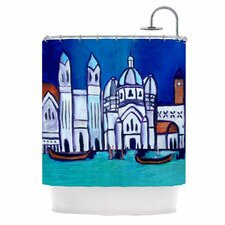 Venice Polyester Shower Curtain