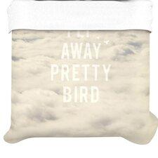 """Fly Away Pretty Bird"" Woven Comforter Duvet Cover"