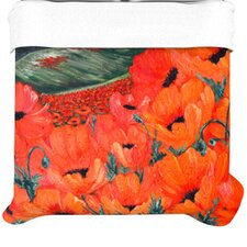 """Poppies"" Woven Comforter Duvet Cover"