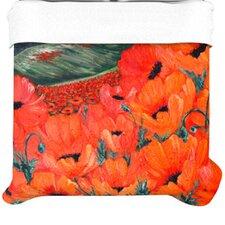 """""""Poppies"""" Woven Comforter Duvet Cover"""