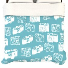 """Camera Pattern"" Woven Comforter Duvet Cover"
