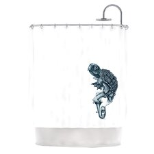Turtle Tuba Polyester Shower Curtain
