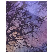 Violet Skies Floating Art Panel