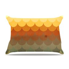 Half Circles Waves Microfiber Fleece Pillow Case