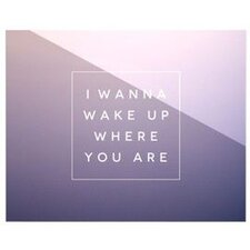 Wake Up by Anna Farath Textual Art Plaque