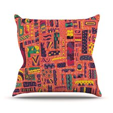 Squares by Akwaflorell Throw Pillow