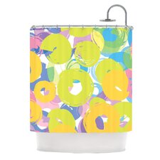 Circle Me Polyester Shower Curtain