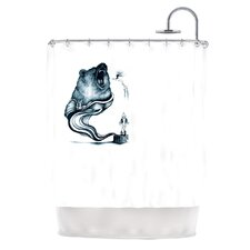 Hot Tub Hunter Polyester Shower Curtain