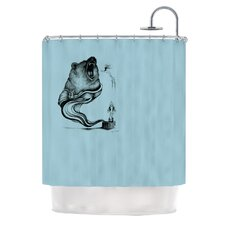 Hot Tub Hunter II Polyester Shower Curtain