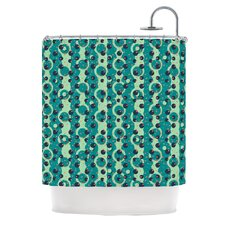 Bubbles Made of Paper Polyester Shower Curtain