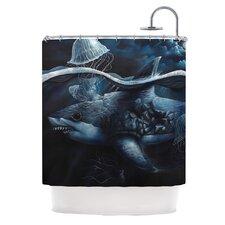 Invictus Polyester Shower Curtain