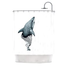 Shark Record Polyester Shower Curtain