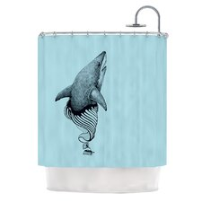 Shark Record II Polyester Shower Curtain