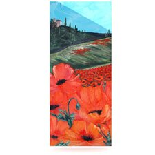 Poppies Floating Art Panel