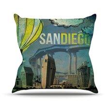 San Diego by iRuz33 Throw Pillow