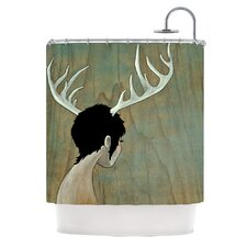 <strong>KESS InHouse</strong> Antlers Polyester Shower Curtain