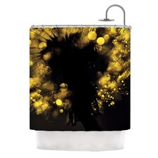 Moonlight Dandelion Polyester Shower Curtain