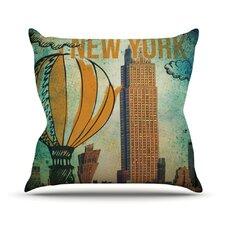 New York by iRuz33 Throw Pillow