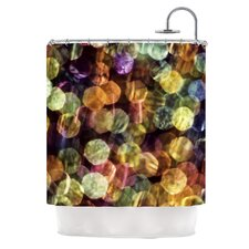 Warm Sparkle Polyester Shower Curtain