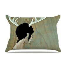 <strong>KESS InHouse</strong> Antlers Microfiber Fleece Pillow Case
