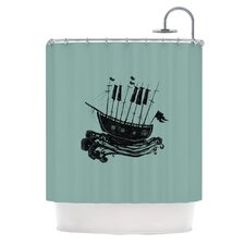Ship Polyester Shower Curtain