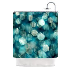 Shades of Blue Polyester Shower Curtain