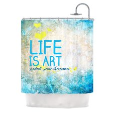 Life Is Art Polyester Shower Curtain