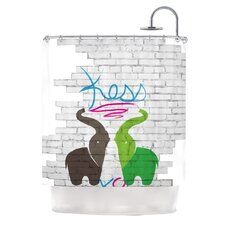 <strong>KESS InHouse</strong> Elephants Polyester Shower Curtain