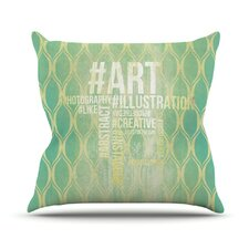 <strong>KESS InHouse</strong> Hashtag Throw Pillow