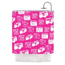 Camera Pattern Polyester Shower Curtain