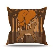 Friends by Jaidyn Erickson Throw Pillow
