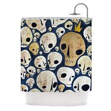 Skulls Polyester Shower Curtain