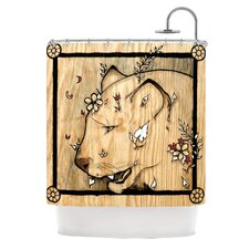 Panther Polyester Shower Curtain
