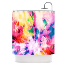 Technicolor Clouds Polyester Shower Curtain