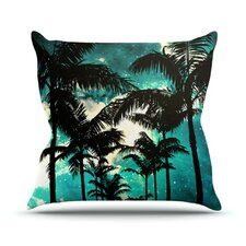 Palm Trees and Stars Throw Pillow