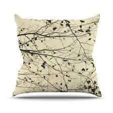 Boughs Neutral by Iris Lehnhardt Throw Pillow