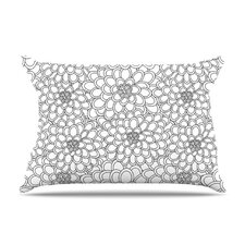 <strong>KESS InHouse</strong> Flowers Microfiber Fleece Pillow Case