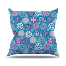 Floral Winter Throw Pillow
