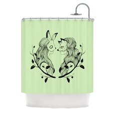 Foxy Buns Polyester Shower Curtain