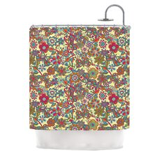 My Butterflies and Flowers Polyester Shower Curtain