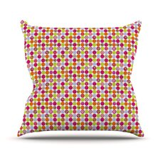Happy Circles by Julia Grifol Throw Pillow