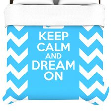 """Keep Calm"" Woven Comforter Duvet Cover"